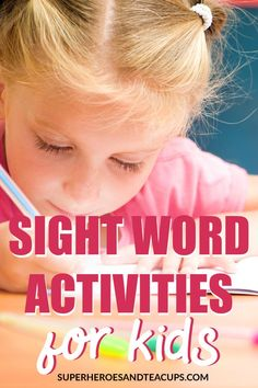 Tons of free sight word activities, resources, and printables to help your child learn to read. An ever growing page of activities for parents. Learning Phonics, Teaching Reading, Kids Learning, Reading Resources, Early Learning, Spelling Activities, Sight Word Activities, Activities For Kids, Kindergarten Activities