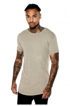 Judas Sinned - Acid Wash Crew T-Shirt - Mushroom | Turn to Judas Sinned for distinctive designs in premium interest fabrics. Shop the full collection now @ Urban Celebrity!