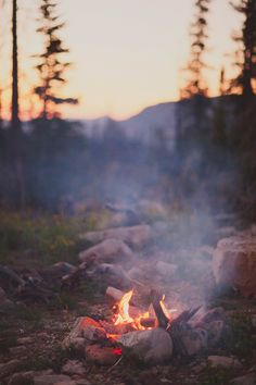 Love everything about a campfire - the smell, the sound, the warmth, and the beautiful flames flickering.