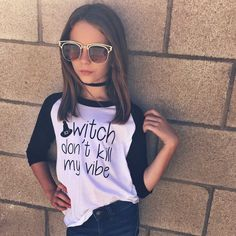 Witch Don't Kill My Vibe - Tee  Witch don't kill my vibe. Halloween tee