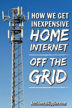How We Get Inexpensive Internet Off the Grid Getting internet service for your off-grid or rural home doesn't have to be super expensive or complicated. Check out some of your common options and look at how our family gets internet off the grid. Renewable Energy, Solar Energy, Solar Power, Fiber Internet, Home Internet, Wind Of Change, Nikola Tesla, Diy Guide, Alternative Energie