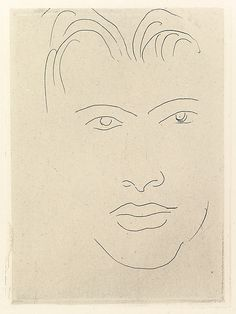 """Henri Matisse """"Massia with Allogated Face"""" 1914 Etching on chine colle"""