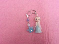 Earrings Elsa frozen in fimo polymer clay by Artmary2 on Etsy, €7.00