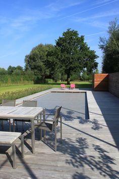 studio k - tuin wolvertem 2011 (garden, tuin, houten terras, wood, ipé , siergras, zwembad, swimming pool )