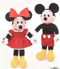 Mickey Mouse Doll Patterns Free | Mickey & Minnie Dolls Crochet ...