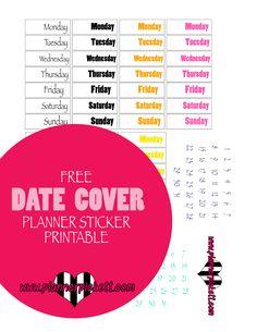 @planner.PICKETT: FREE Erin concern happy  Planner Date Cover Sticker Printable