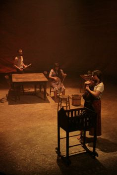 Blood Wedding, designed by Madeleine Girling. Royal Welsh College of Speech and Drama.