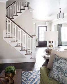 Beautiful stair railing/ banister!