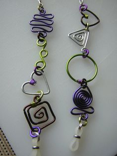 Hey, I found this really awesome Etsy listing at https://www.etsy.com/listing/160394264/eyeglass-chain-in-purplelime