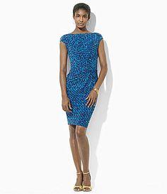 Lauren Ralph Lauren Jersey Bateau CapSleeve Dress #Dillards