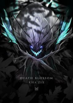 Death Blossom Kha'zix fan-art by wacalac