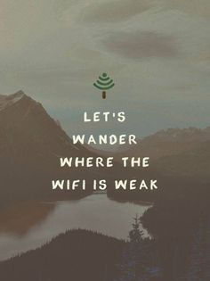 Where the wifi is weak More