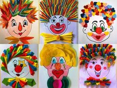 Carnival work, - Mardi Gras Mardi Gras Mardi Gras Welcome to our website, We hope you are satisfied with the content - Clown Crafts, Circus Crafts, Carnival Crafts, Carnival Masks, Carnival Food, Preschool Crafts, Diy Crafts For Kids, Projects For Kids, Art Projects