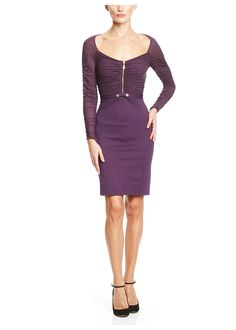 Purple Long Sleeve Abito Donna Jersey Dress - off, found on sale for Dresses For Sale, Dresses For Work, Formal Dresses, Luxury Dress, Designer Collection, Versace, Hair Makeup, Bodycon Dress, Couture