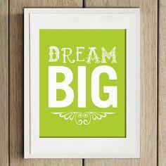 wall art - print - dream big