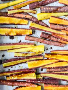 pomegranate roasted carrots with feta and brown butter I howsweeteats.com
