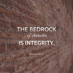 """""""Strong moral character results from consistent correct choices in the trials and testing of life. We become what we want to be by consistently being what we want to become each day."""" Remember, ... """"the bedrock of character is integrity."""" From #ElderScott's pinterest.com/pin/24066179229025576 inspiring #LDSconf facebook.com/223271487682878 message lds.org/general-conference/2010/10/the-transforming-power-of-faith-and-character. #passiton"""