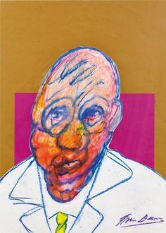 Francis Bacon, Retrato, 1980-1992, coleção privada, pastel colorido e colagem, 70 x 50 cm (Foto: Divulgação)