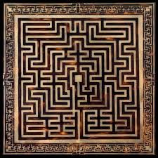 The St. Omer labyrinth was situted in the abbey church St. Bertin in Saint-Omer… Geometric Tattoo Inspiration, Amazing Maze, Design Art, Graphic Design, Fabric Rug, Floor Patterns, The St, 14th Century, Minimal Design