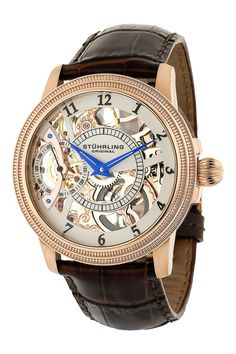 Men's Brumalia Automatic Skeleton Watch by Stuhrling