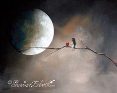 Serene ART PRINT beautiful landscape Fantasy Surreal Art In Tree by Shawna Erback