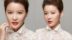 Asian makeup - orange lips