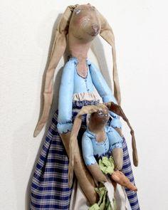 Mama and baby Rabbit by JoAnn Palmer Hootnhollarprims