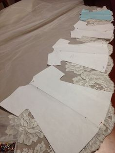 How to cut gowns on lace edge  Accepting donations https://www.facebook.com/NathanielsAngelscares