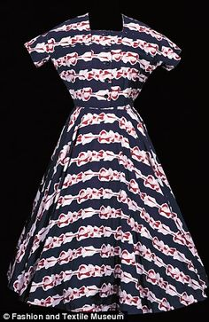 Printed cotton dress by Horrockses Fashions, made from a textile designed by Graham Sutherland, circa 1949