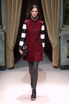 Look 11 from Fay Women's Fall - Winter 2014/15 collection seen on the catwalk.