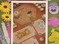 Download this vintage crochet book ($1.00) Originally published in 1950 by the Lily Mills Company, this beautiful crochet pattern booklet presents many different designs of doilies and place mats, each with a floral theme. Patterns and instructions for: