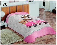 3D deka a prehoz sivo ružovej farby s mačkami