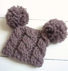 Funny knit baby hat