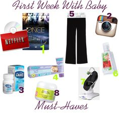 First week home with baby must haves