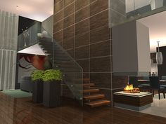 Spring4Sims » Gruth Modern Stairs by ulmille (MTS)