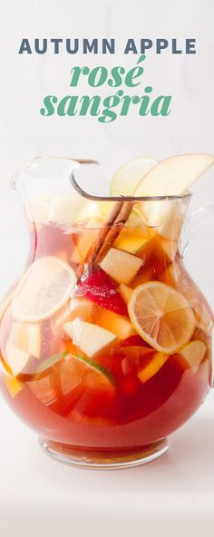 Autumn Apple Rosé Sangria Recipe: This festive Autumn Apple Rosé Sangria is bubbly, just the right amount of sweet, and perfect for your Thanksgiving or other fall…