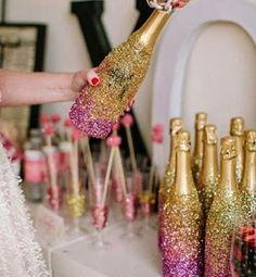 Ideias de garrafas para casamentos