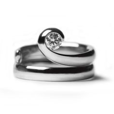 Paul Spurgeon Wave Flawless - Unusual Engagement Rings - Engagement Rings