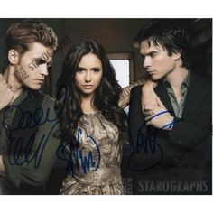 Get this awesome photo signed by Ian Somerhalder, Paul Wesley and Nina Dobrev from The Vampire Diaries
