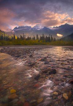 Morning on the River: Photographer Marc Adamus -  McDonald Creek, Glacier Park, Montana
