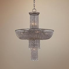 "Metropolitan Shimmering Falls 23 3/4"" Wide Silver Chandelier   ENTRY"