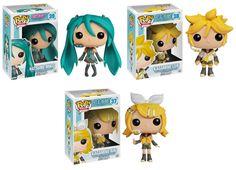 Vocaloid: Hatsune Miku, Kagamine Len + Kagamine Rin.