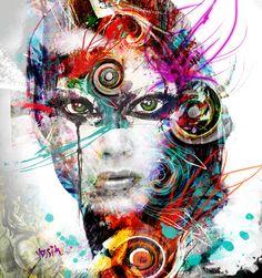 """Saatchi Online Artist yossi kotler; New Media, """"no mask"""" #art"""
