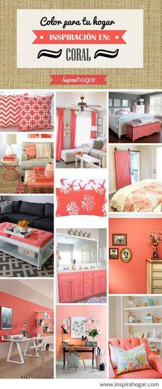 Color Series; Decorating with Peach. Peach, orange, salmon, coral ...