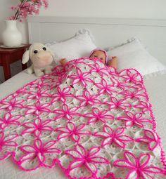 CROCHET BABY BLANKET Pattern - crochet pattern for baby - Princessa Blanket - crochet flower Blanket pdf pattern instant download