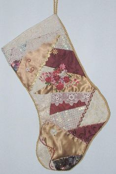 I ❤ crazy quilting . . . Cathy's Stocking ~By Crazybydesign