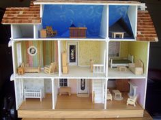 Interior Doll House www.poppieswoodshopdesigns.com