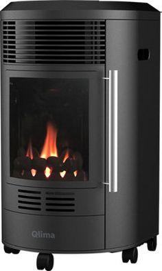 Estufa de gas QLIMA GH8034 · LEROY MERLIN Color Negra, Merlin, Good To Know, Home Appliances, Wood, Ideas, Products, Shopping, Sheet Metal