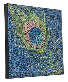 The Peacock Feather Mosaic Glass Tile Wall Art is bold and brilliant. It is inches square x 2 inches deep. Mosaic Artwork, Mosaic Wall Art, Glass Mosaic Tiles, Glass Wall Art, Mosaic Birds, Tile Art, Mosaic Crafts, Mosaic Projects, Mosaic Ideas