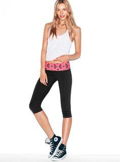Yoga Crop Legging PINK- Mediums. Victorias Secret